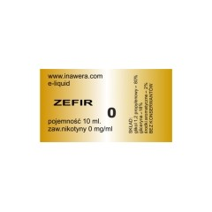 ZEFIR e-liquid, 0 mg/ml