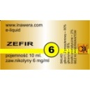 ZEFIR e-liquid, 6 mg/ml