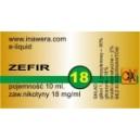 ZEFIR e-liquid, 18 mg/ml
