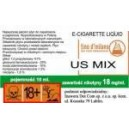 US MIX e-liquid, 12 mg/ml