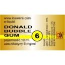 DONALD BUBBLE GUM e-liquid, 6 mg/ml