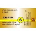 ZEFIR e-liquid, 6 mg/ml