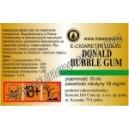 DONALD BUBBLE GUM e-liquid, 18 mg/ml